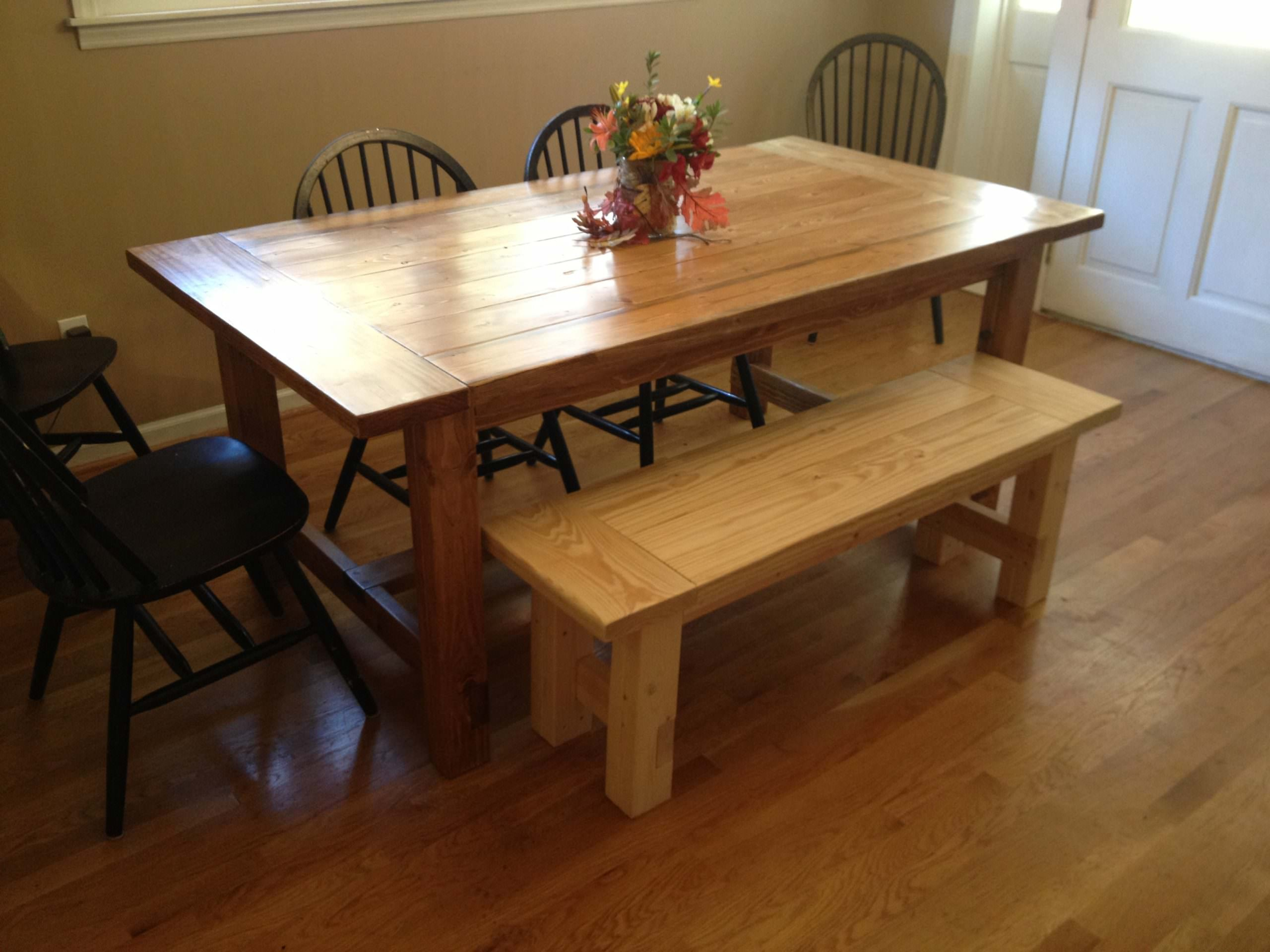Bench For Kitchen Table Plans